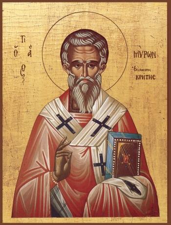 Мирон чудотворец, епископ Критский святитель, икона (арт.795)