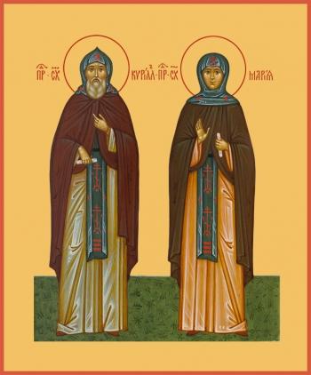 святые Кирилл и Мария Радонежские преподобные