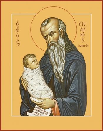 Стилиан преподобный, икона (арт.00856)