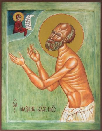 Максим блаженный Московский, Христа ради юродивый, икона (арт.860)