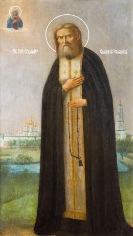 Серафим Саровский преподобный чудотворец, икона (арт.866)