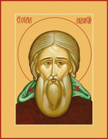 Сергий Радонежский преподобный, икона (арт.876)