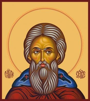 Сергий Радонежский преподобный, икона (арт.879)