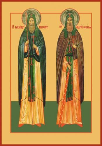 Пересвет и Ослябя святые воины, икона (арт.884)