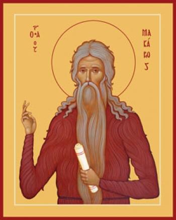 Макарий Великий, Египетский преподобный, икона (арт.891)
