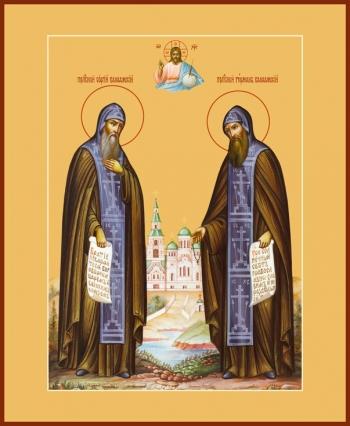 Сергий и Герман Валаамские преподобные, икона (арт.898)