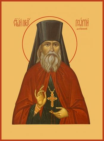 Георгий исповедник Даниловский, преподобный чудотворец, икона (арт.903)