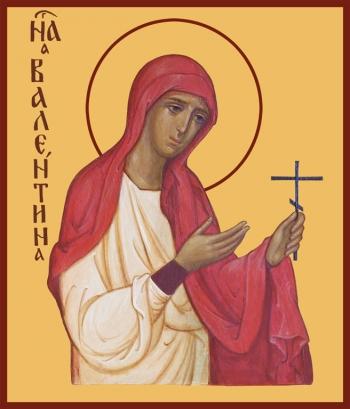 Валентина Кесарийская мученица, икона (арт.933)