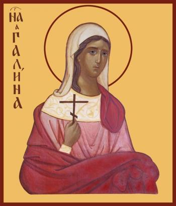 Галина Коринфская мученица, икона (арт.935)