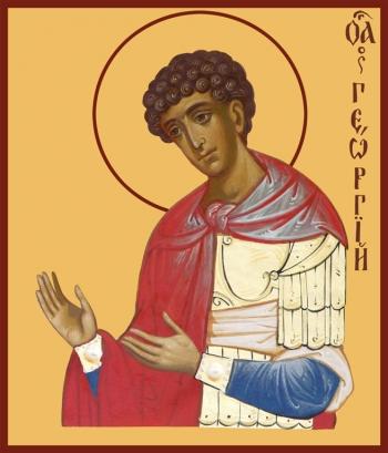 Георгий Победоносец великомученик, икона (арт.944)