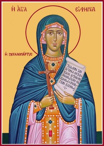 Евфимия Всехвальная великомученица, икона (арт.948)