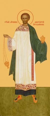 Лаврентий Римский , архидиакон, священномученик, икона (арт.959)