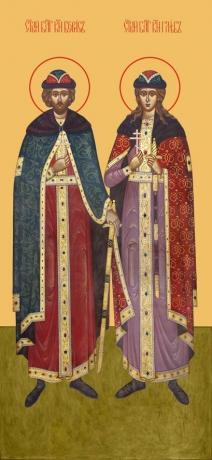 Борис и Глеб благоверные князья-страстотерпцы, икона (арт.981)