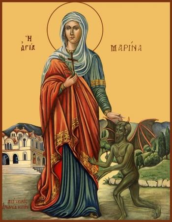 Марина великомученица, икона (арт.996)