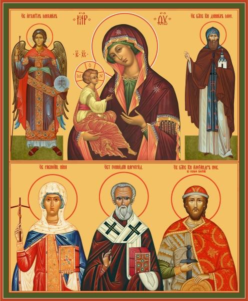 Семейная икона. Изготовление на заказ  (арт. S-025)