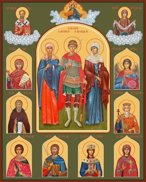 Семейная икона. Изготовление на заказ  (арт. S-029)