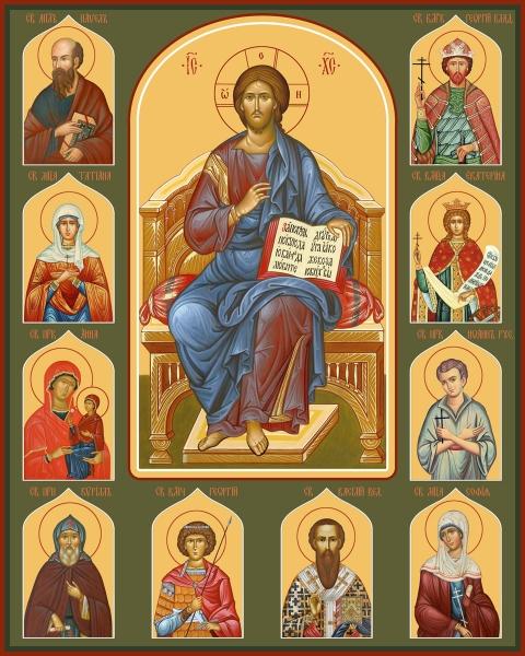 Семейная икона. Изготовление на заказ  (арт. S-045)