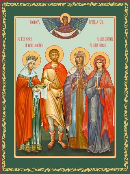 Семейная икона. Изготовление на заказ  (арт. S-054)