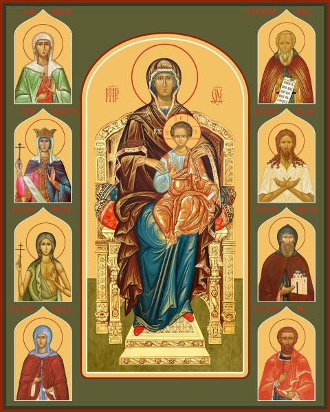 Семейная икона. Изготовление на заказ  (арт. S-056)