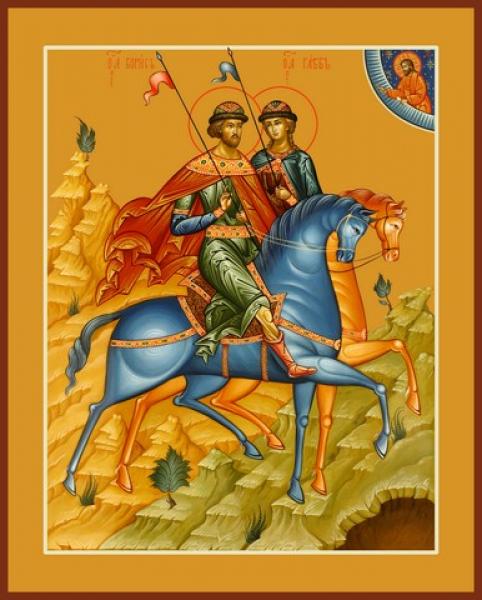 Князья Борис и Глеб благоверные, икона (арт.06485)