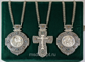 Крест и панагии. Тройник (арт.26155)