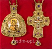 Крест и панагия. Двойник (арт.16075)