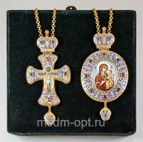 Крест и панагия. Двойник (арт.26100)