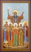Сергий Радонежский, преподобный, (семейная) писаная икона