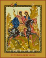 Борис и Глеб благоверные князья-страстотерпцы, икона (арт.04406 с-2)