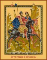 Борис и Глеб благоверные князья-страстотерпцы, икона (арт.04406)