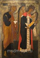 Петр апостол и Михаил архангел, деисус икона (арт.04423)