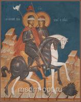 Благоверные князья Борис и Глеб, икона (арт.04456)