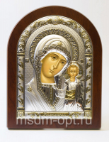 Казанская икона Божией Матери, серебряная икона