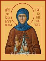 Преподобномученица Мария (Лелянова), Гатчинская, монахиня, икона (арт.04568)