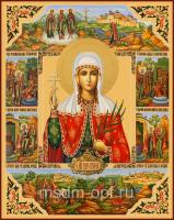 Мученица Валентина Кесарийская (Палестинская), дева, икона (арт.04572)