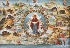 Афонские-святые, икона (арт.04680)