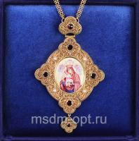 Панагия Божия Матерь «Достойно есть» с цепью (арт.28393)