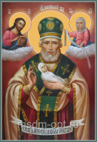 Николай Чудотворец, Архиепископ Мир Ликийских, Святитель (Никола Мокрый), икона (арт.04728)