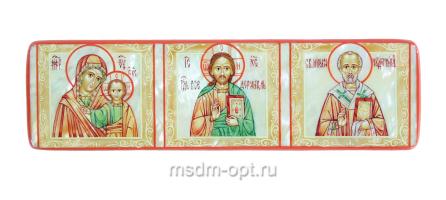 Триптих, икона. Миниатюра на перламутре (арт.38941)