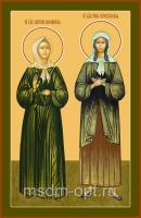 Святые блаженный Матрона Московская и Ксения Петербургская, икона (арт.04852)