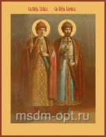 Борис и Глеб благоверные князья-страстотерпцы, икона (арт.00512)