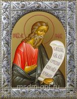 Авраам праотец, икона в посеребренной рамке, золочение,  140 х 180 мм (арт.55431-01)