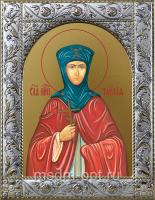Таисия преподобная, икона в посеребренной рамке, золочение,  140 х 180 мм (арт.55830-01)