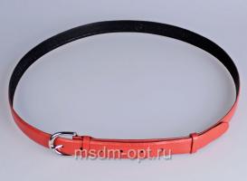 00317 Пояс ремень женский  кожаный, трехслойный, прошитый, не прошитый. Ширина 25 мм (арт.МП3)  красный
