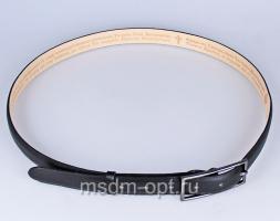 00311 Пояс ремень женский  кожаный, трехслойный, прошитый, не прошитый. Ширина 25 мм (арт.МП3) черный