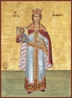 Феодора Цареградская преподобная, икона (арт.06415)