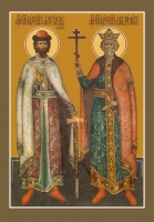 Александр Невский и Владимир благоверные князья, икона (арт.06439)