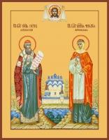 Петр и Феврония благверные кнн., икона (арт.06448)