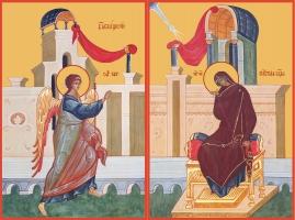 Благовещение Пресвятой Богородицы, иконы на Царские Врата (арт.06628)