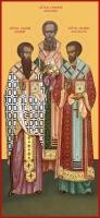 Василий, Григорий, Иоанн святители, икона (арт.06639)